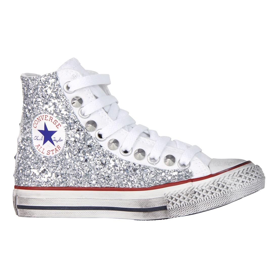 all star argento bambina