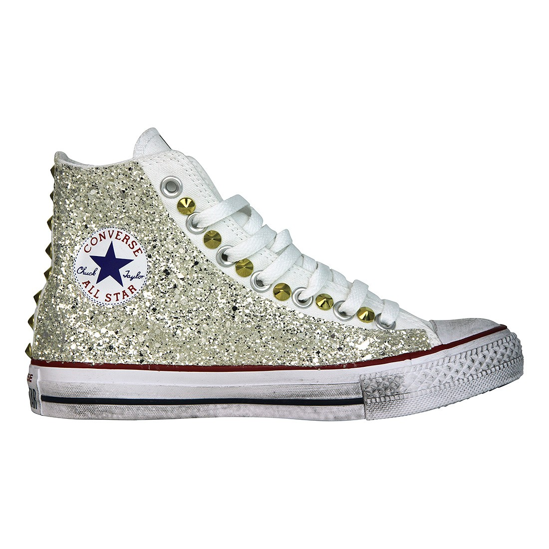 converse all star alte nere bambina