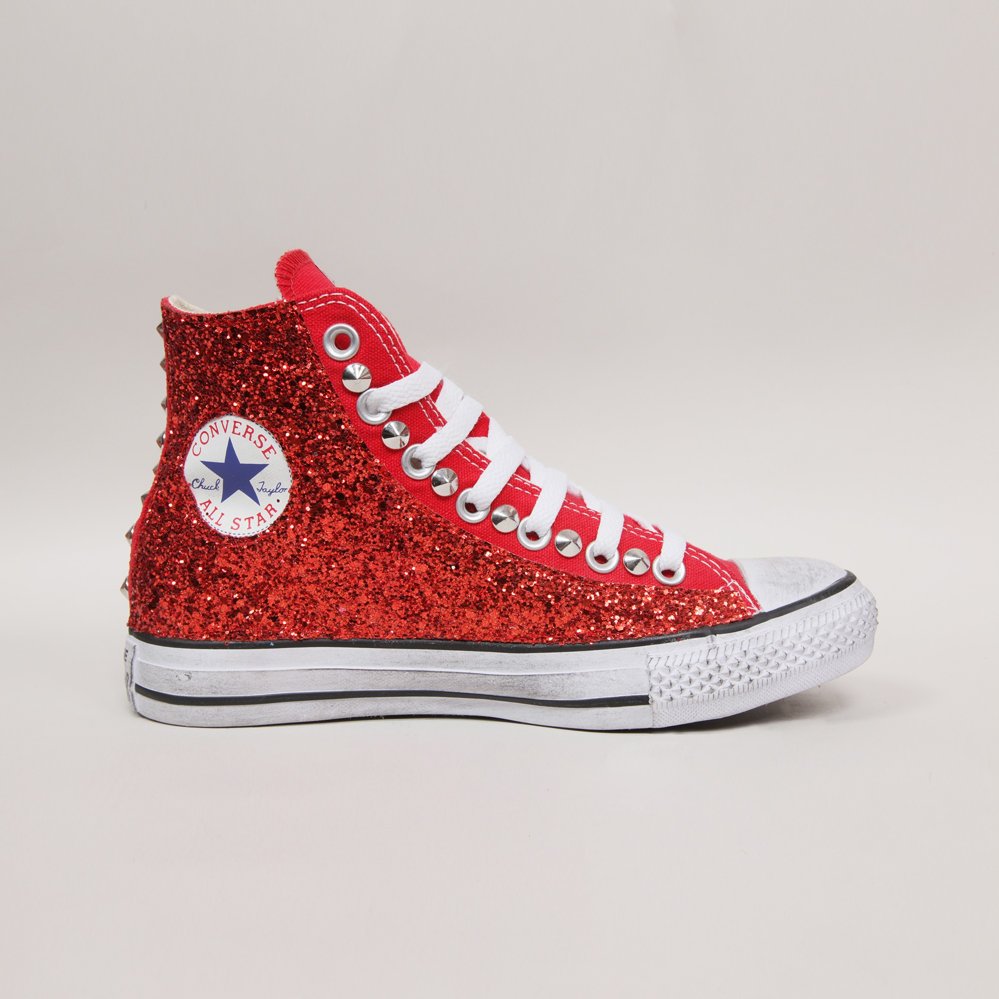 all star converse rosse