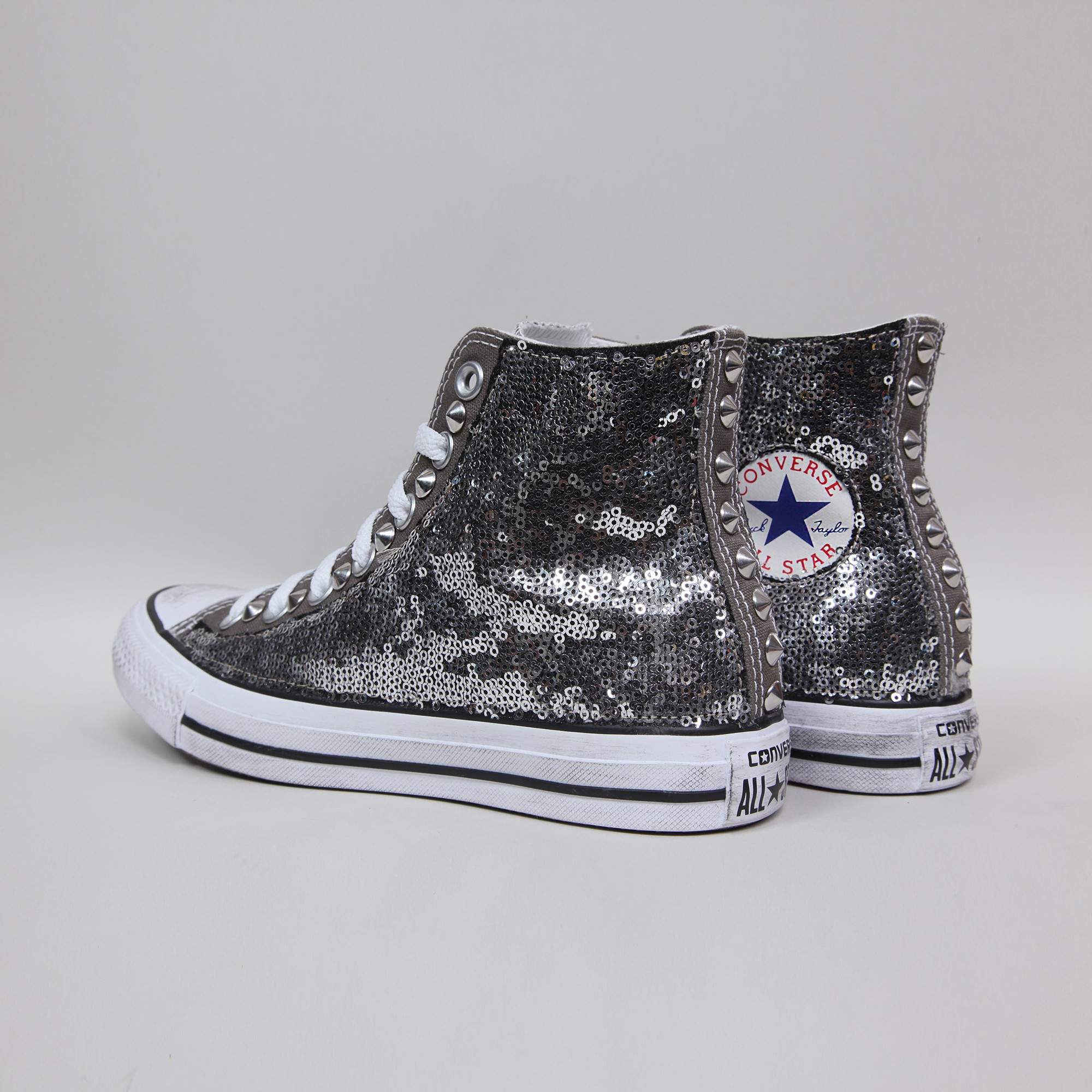 converse hi charcoal paillettes grigie paillettes converse. Black Bedroom Furniture Sets. Home Design Ideas