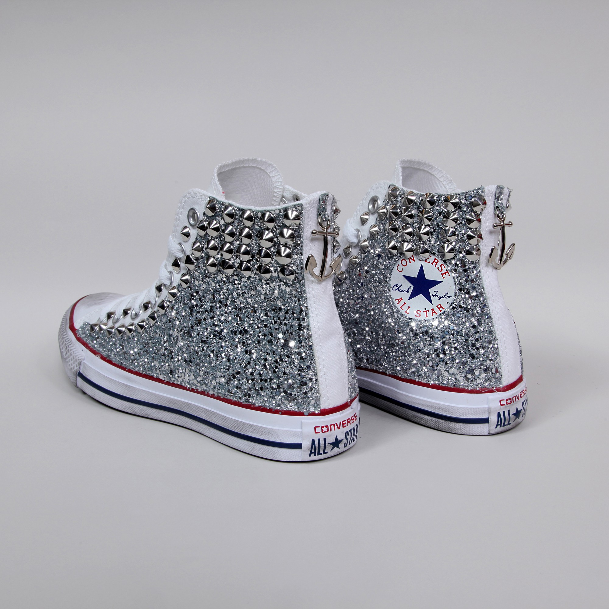 converse all star bambina argento