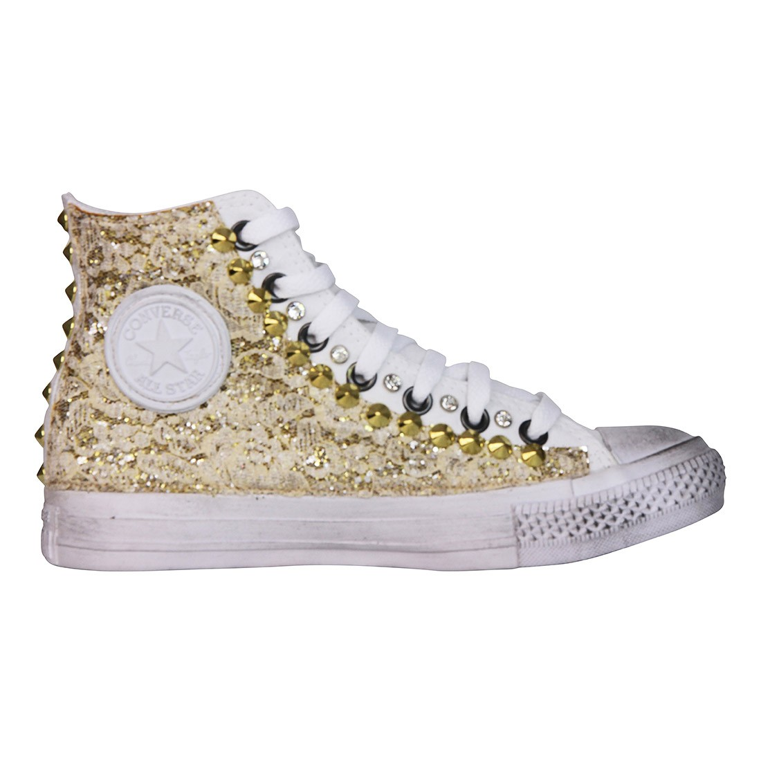 converse all star bianche pizzo