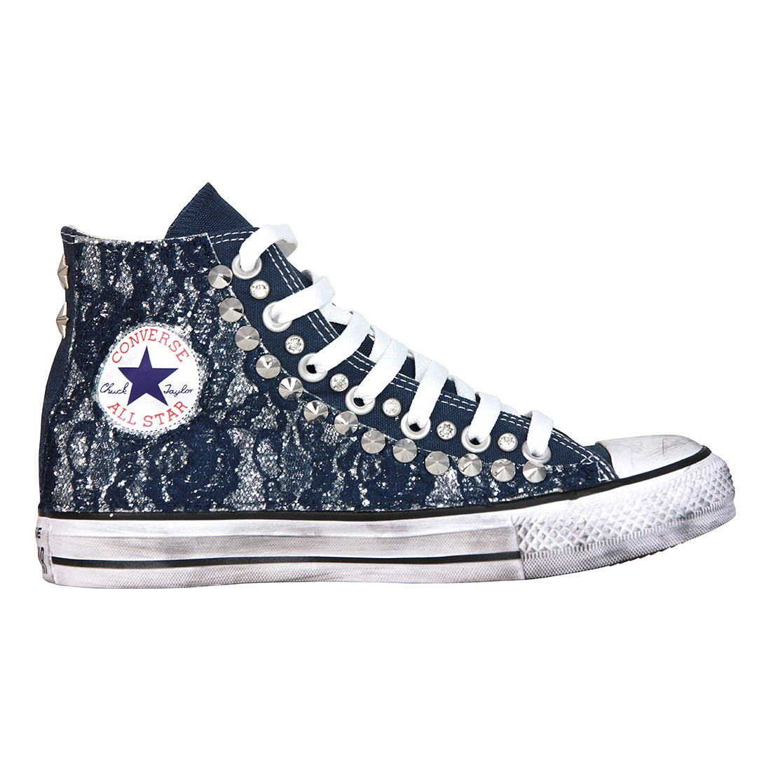 2converse all star pizzo nere