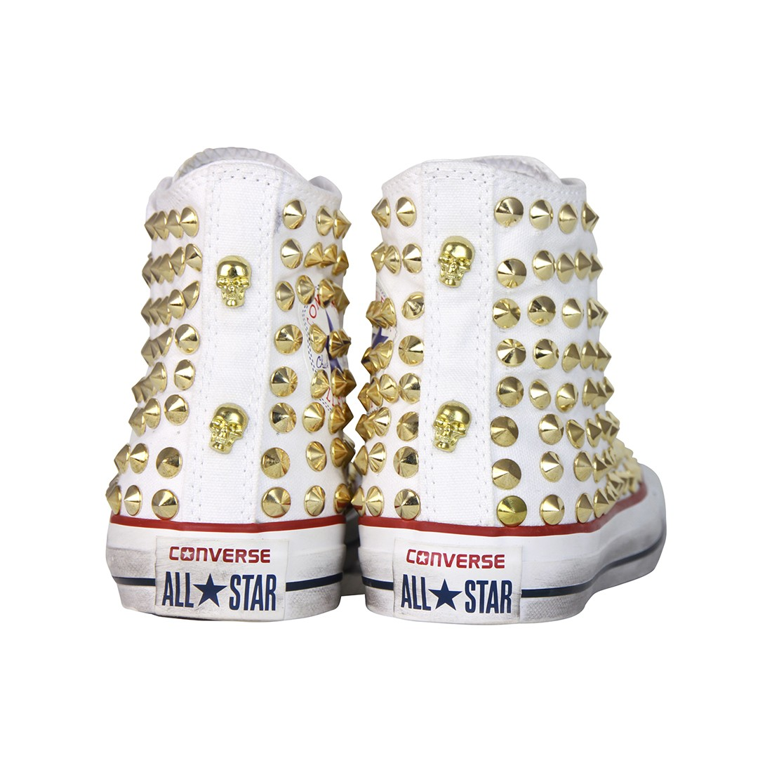 converse all star bianche alte