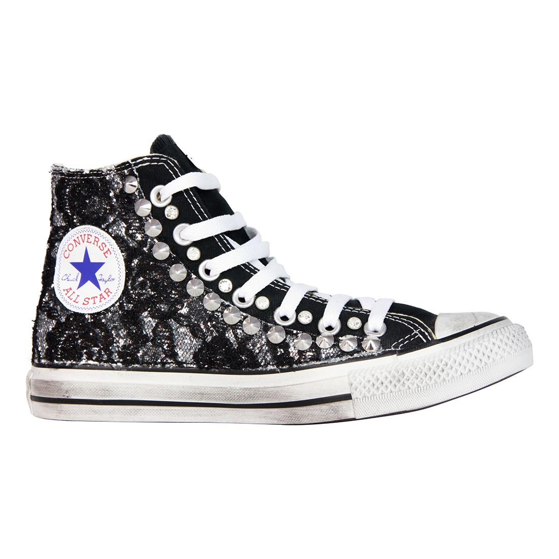 converse all star pizzo nero